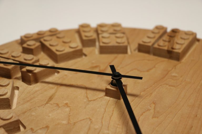 Wooden Lego Clock
